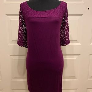 NWT Lane Bryant Size 22 24 2X Purple Lace Tunic